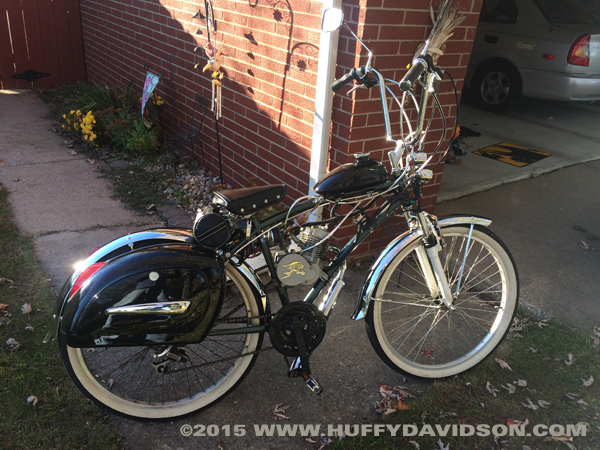 Motorized bicycle pictures huffy davidson for Custom motorized bicycles parts